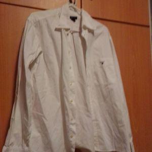 Πουκάμισο αντρικό άσπρο σπορ gant σχεδόν καινούργιο