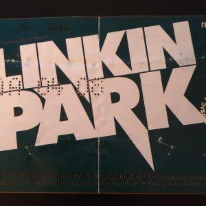 LINKIN PARK απόκομμα εισιτηρίου από το live στην Μαλακάσα