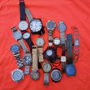 18 ρολόγια χειρός πωλούνται όλα μαζί 25ευρω
