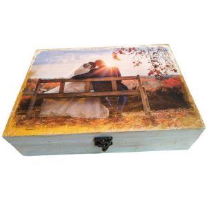 Ξύλινο κουτί αποθήκευσης ΓΑΜΠΡΟΣ-ΝΥΦΗ