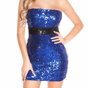 Μπλέ φόρεμα με παγιέτες