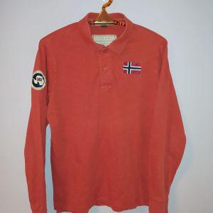 Napapijri polo shirt μακρυμάνικο πορτοκαλί