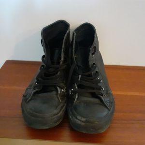 Converse μποτάκια 37 μαύρα δερμάτινα