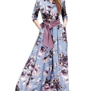 Floral Maxi φόρεμα Parizianista