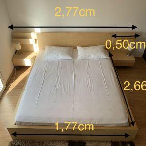 Κρεβάτι διπλό με κομοδίνα