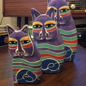 Διακοσμητικές ξύλινες γάτες