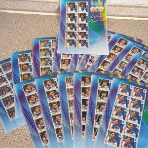 2004 Ολυμπιακών αγώνων 16 φυλλαράκια τον 10 γραμματοσήμων ολημπιακον