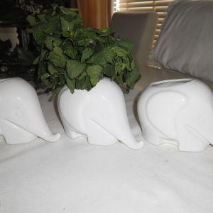 3 βαζάκια ελέφαντες