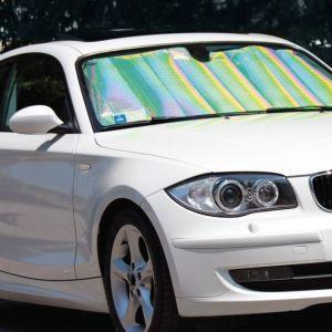 Ηλιοπροστασία αυτοκινητου Αλουμινίου 125x60 μονο 5 ευρω τα 10 τεμαχια