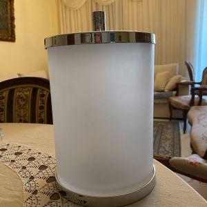 Δοχείο μπανιου κρύσταλλινο με ανοξείδωτο ατσάλι καινουργιο.