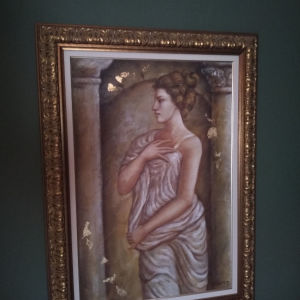 Πίνακας Ζωγραφικης Λάδι σε Μουσαμά Ξένου Ζωγράφου!Διαστάσεις:115×82