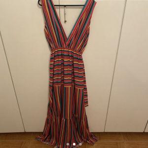 Multicolor maxi dress/ Πολύχρωμο καλοκαιρινό μάξι φόρεμα