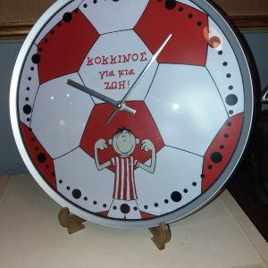 """Ρολόι τοίχου """"κόκκινος για μία ζωή"""""""