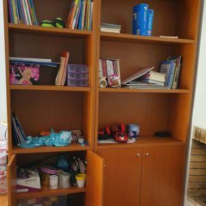Βιβλιοθήκη κερασιά 3 τεμάχια σετ πωλούνται μαζί ή χωριστά