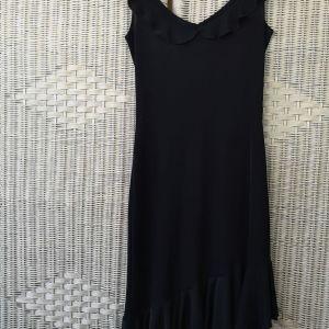 Μαύρο φόρεμα μίντι ελαστικό Anel