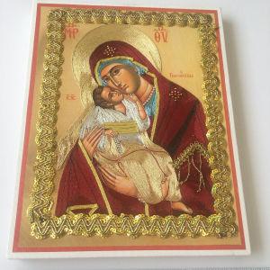 Χειροποίητη εικόνα της Παναγίας με τεχνική φιλιγκρε