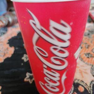 Παλιο ποτήρι της coca Cola