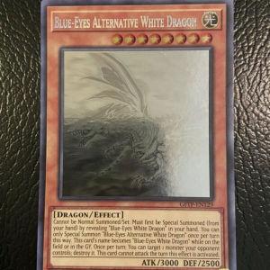Ghost rare yugioh card: BLUE-EYES ALTERNARIVE WHITE DRAGON