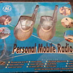 WALKIE TALKIES PERSONAL MOBILE RADIO 35835 GENERAL ELECTRIC