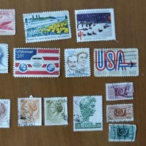 Γραμματόσημα Συλλεκτικά από ΗΠΑ και Ιταλία 14 τεμάχια Άριστη Κατάσταση