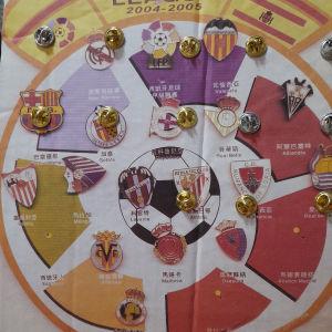 PIN της ΙΣΠΑΝΙΚΗΣ  LEAGUE 2004-2005