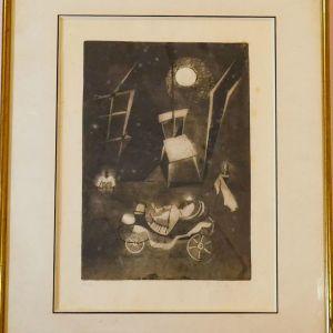 Γκραβούρα ,Δοκίμιο του καλλιτέχνη, Υπογεγραμμένη, σε κορνίζα