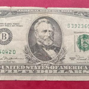Η.Π.Α. 50 δολάρια 1981 πλαστό εποχής;;