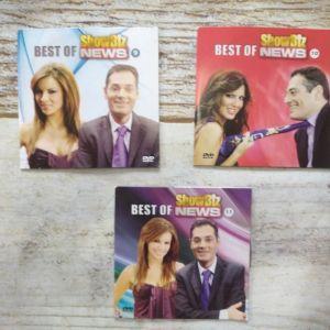 DVD 3 τεμ. Τηλεοπτικό σόου *Show Biz NEWS* 9, 10, 11. Καινουργιο.