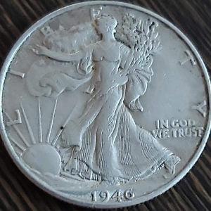 Half Dollar 1946 .900 SILVER