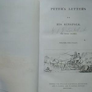 Peter's Letters to his Kinsfolk, Εδιμβούργο και Λονδίνο, 1829.