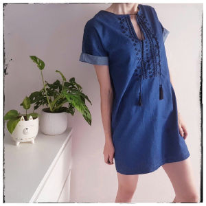 [ ΦΟΡΕΜΑ ] Boho Jean φορεμα [ XS ] || Denim Dress