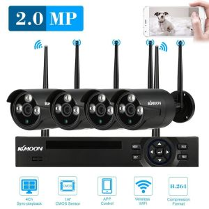 4CH 1080P HD WiFi NVR IP Camera Kit