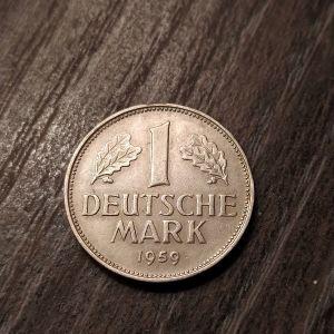1 MARK 1959 D.. δύσκολο νομίσμα..