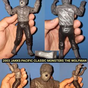 JAKKS PACIFIC CLASSIC MONSTERS THE WOLFMAN Φιγούρα του 2003 Collectible