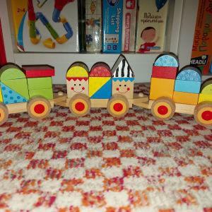 Tooky toy ξυλινο τρενάκι