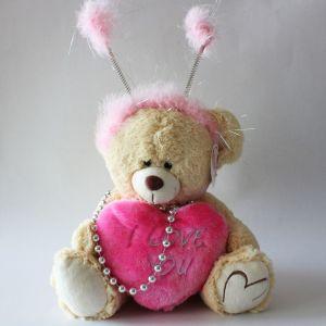 Αρκούδος ροζ καρδιά