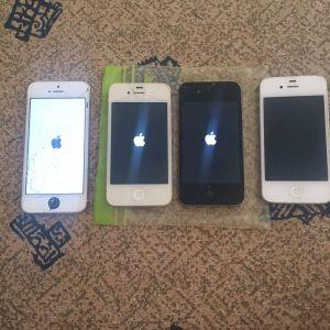 3 iPhone 4s και 1 5s για ανταλλακτικά