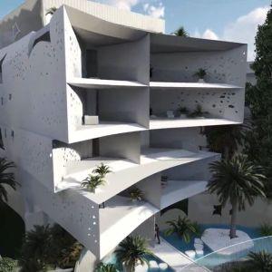κτίριο πρωτοποριακού σχεδιασμού και αισθητικής φιλοξενεί 11 κατοικίες