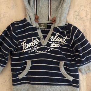 Φούτερ βρεφικό μπλε γκρι με κουκούλα Timperland hoodie / 12M