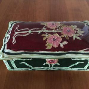Vintage πορσελάνινο κουτί art nouveau