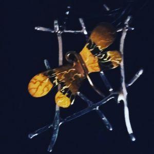 Ασημένιο Κρεμαστό χειροποίητο πεταλούδα