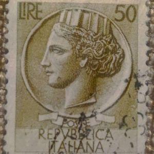 Γραμματόσημο Ιταλίας του 1952 - 50 λίρες