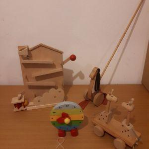 Ξύλινα οικολογικά παιχνίδια