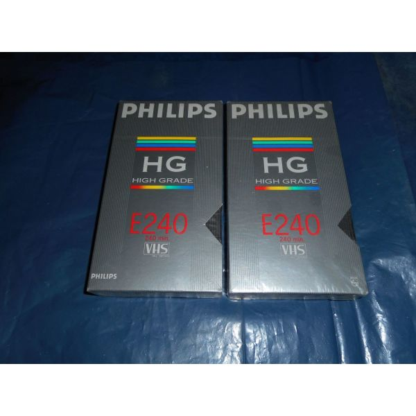 vinteokasetes  PHILIPS   E - 240  HIGH  GRADE  VHS