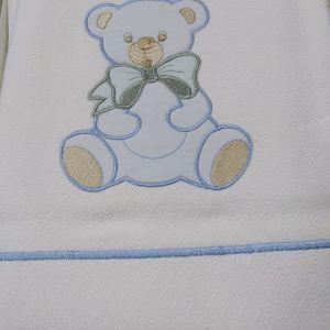 κουβέρτα πικε βρεφική με επένδυση φανέλας