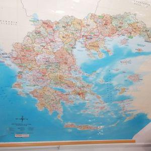 Χάρτης Ελλάδος - Φυσική θέση