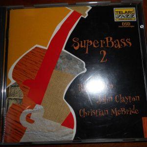 CD  SUPER BASS  2  with   RAY  BROWN  -  JOHN CLAYTON  -  CHRISTIAN  Mc BRIDE