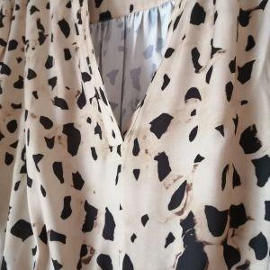 Φόρεμα σατέν λεοπαρ L/XL