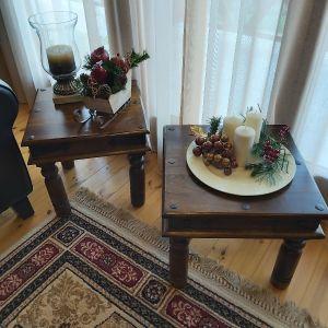 2 Ξυλινα τραπεζάκια  σαλονιού vintage.