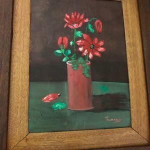 ΠΙΝΑΚΑΣ ΕΛΑΙΟΓΡΑΦΙΑ  -λουλούδια